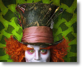 Johnny Depp in Tim Burtons&#039;s &#039;Alice in Wonderland&#039;